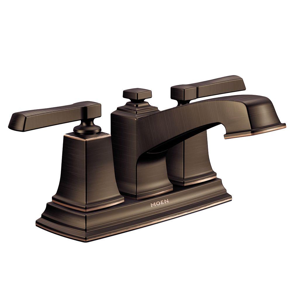 Boardwalk Two-Handle Low-Arc Bathroom Faucet In Mediterranean Bronze