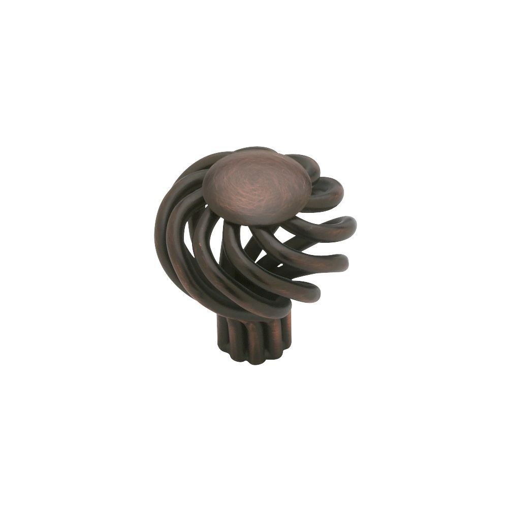 Knob, Small Wire Swirl Design with Flat Top, 33mm