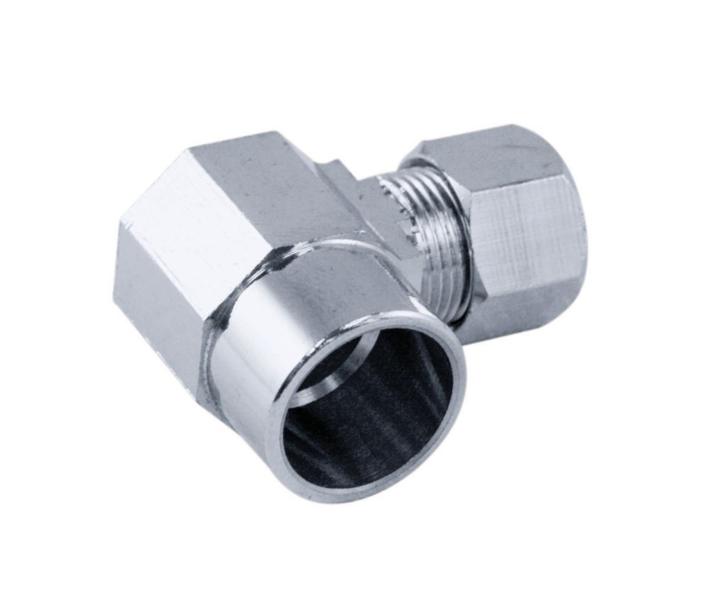 Supply Fitting 1/2 Inch Solder Angle Chrome Plated Brass Lead Free