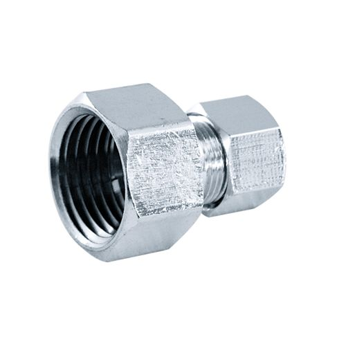 Aqua-Dynamic Supply Fitting 1/2 Inch Female Threaded Straight Chrome Plated Brass Lead Free