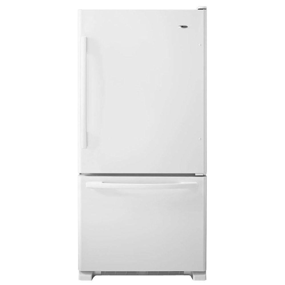 33-Inch W 22 cu. ft. Bottom-Freezer Refrigerator in White