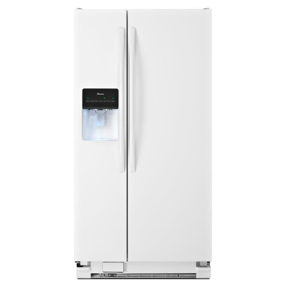 21.2 cu. ft. Side-by-Side Refrigerator with Energy Efficiency in White