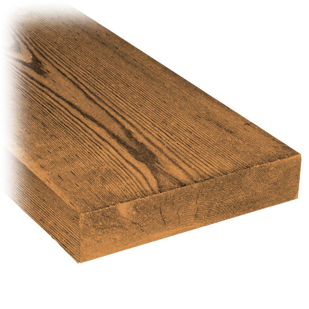MicroPro Sienna 2 x 8 x 8' Treated Wood