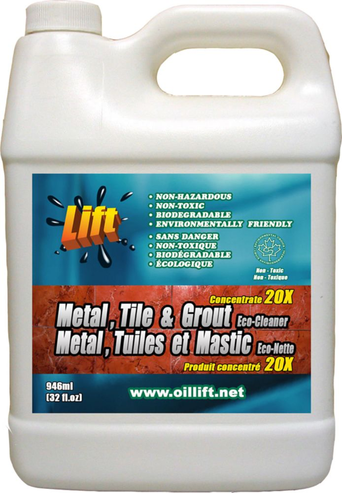 Oil Lift 948 Ml Industrial Strength Non Toxic Metal Tile Grout Cleaner The Home Depot Canada