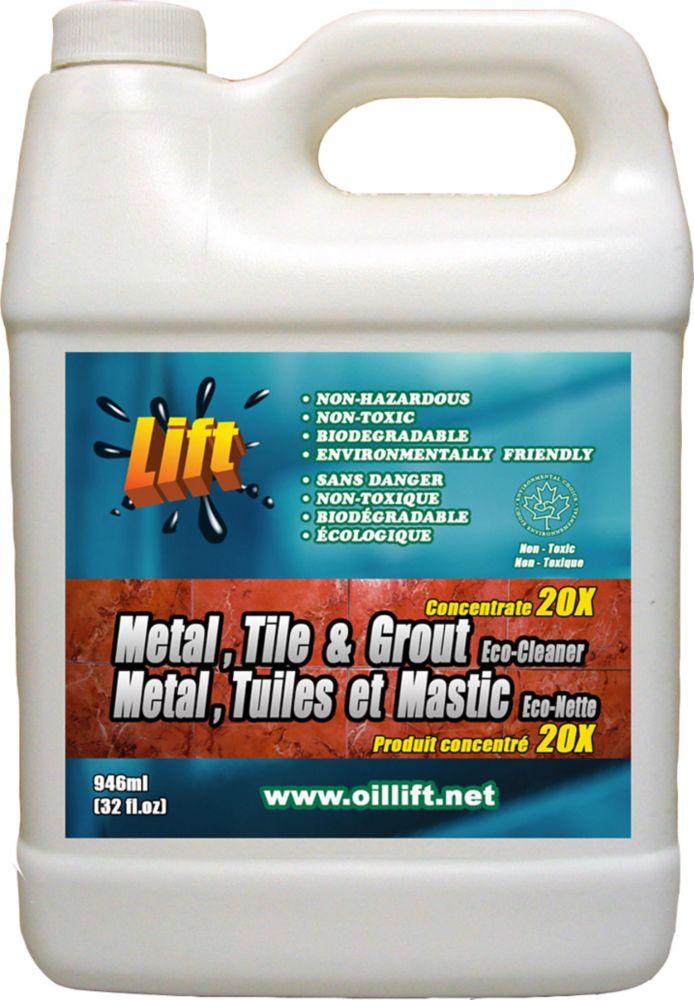 948 ml, puissant NETTOYANT écologique pour MÉTAL, TUILES ET MASTIC