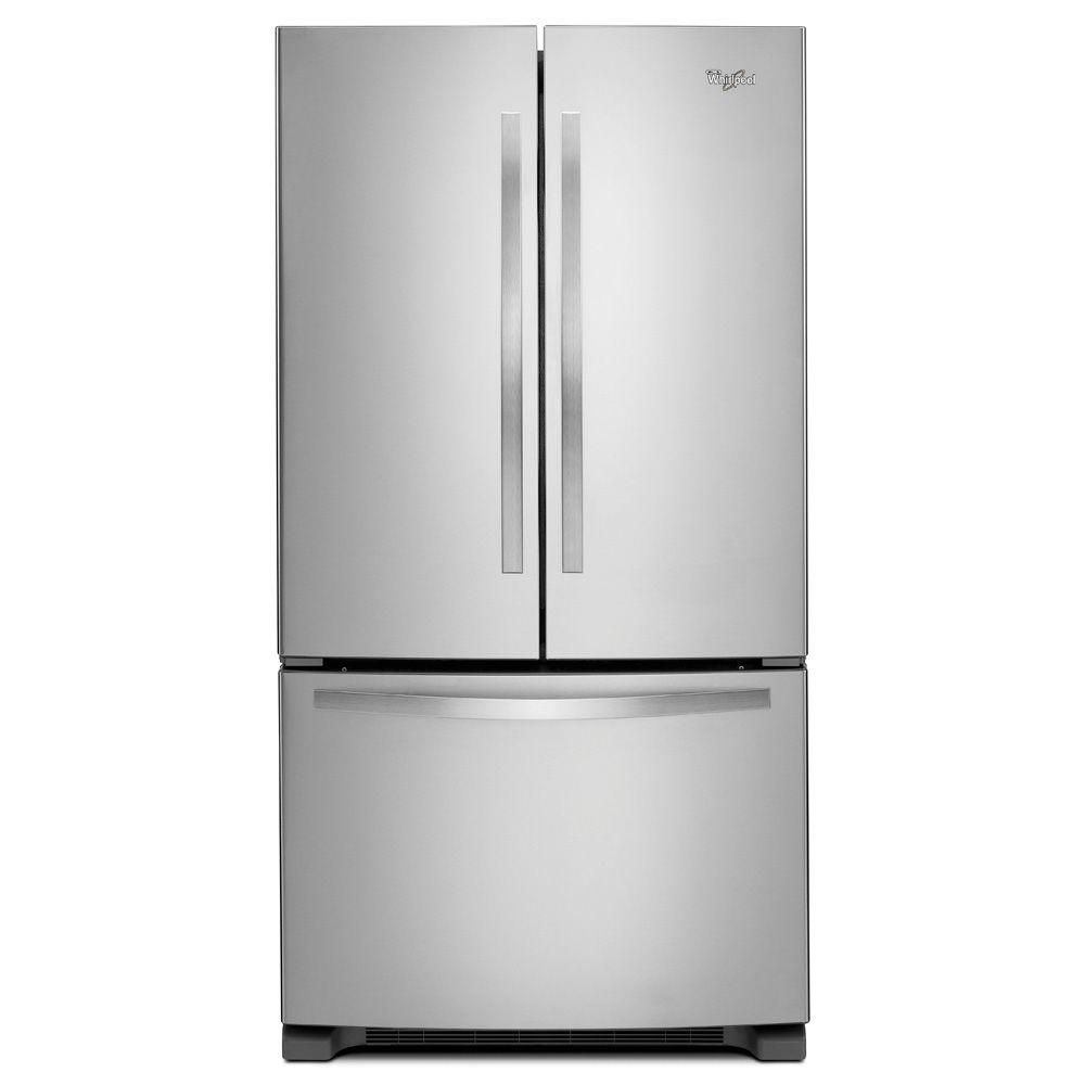 36-inch Wide French Door Refrigerator with Frameless Glass Shelves - 25 cu. Feet