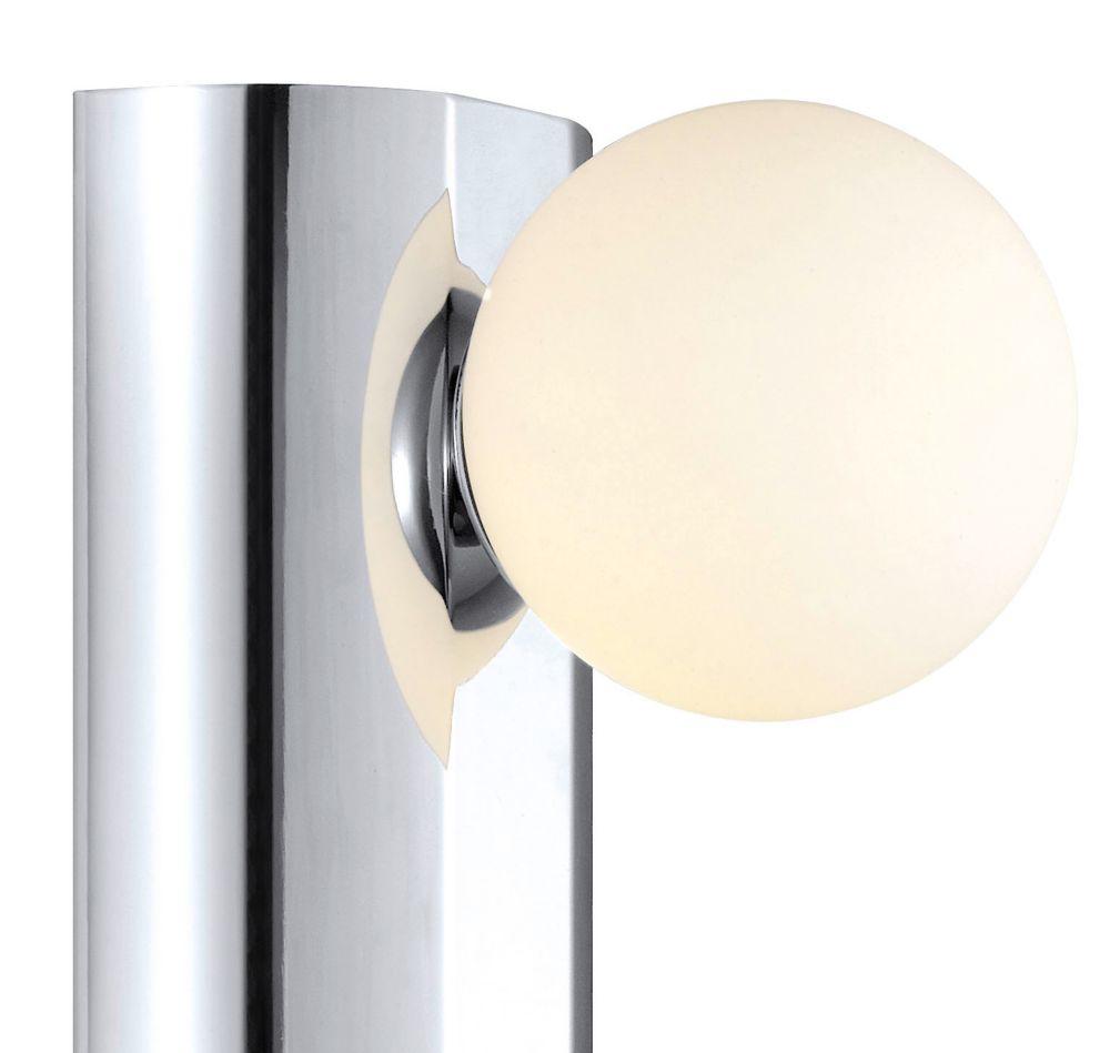 NESO Wall Light 1L, Chrome Finish, White Glass