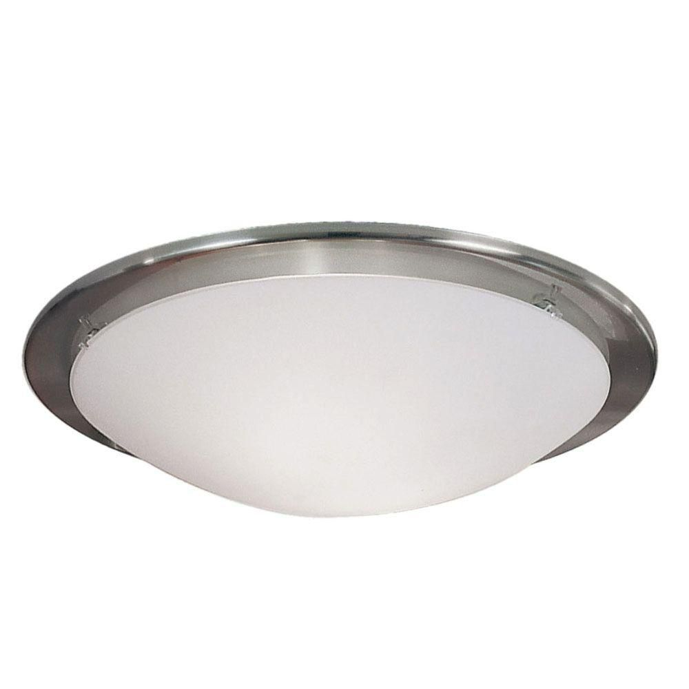 PAOLA Wall Light 1L, Matte Nickel Finish, Opal Frosted Glass