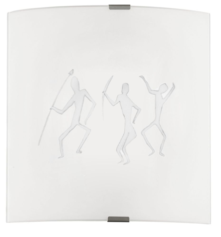 GRAFIK Wall Light 1L, Frosted Glass with Ethnic Motif