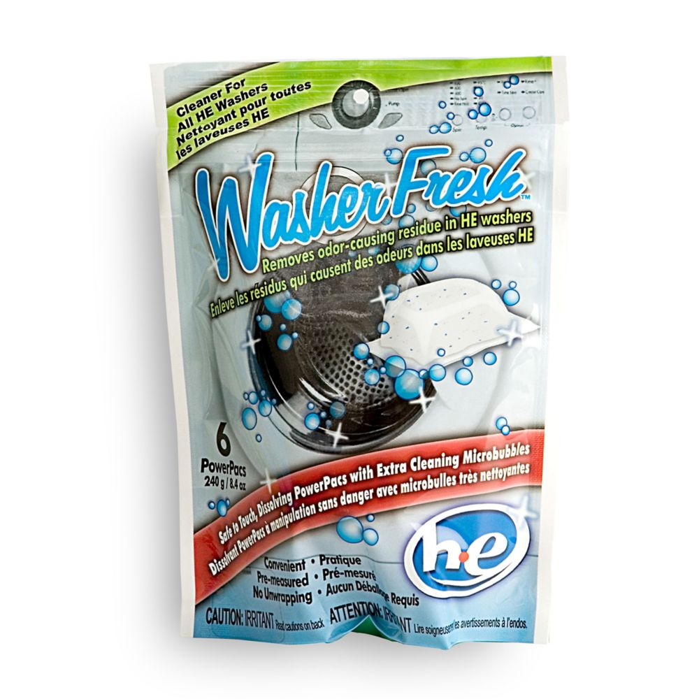 Fresh Productz High Efficiency Washing Machine Cleaner & Refresher - 6 Pouch