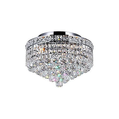 12-inch 3-Light Round Flushmount Chandelier