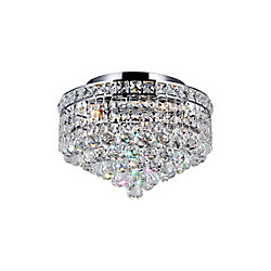 CWI Lighting 12-inch 3-Light Round Flushmount Chandelier
