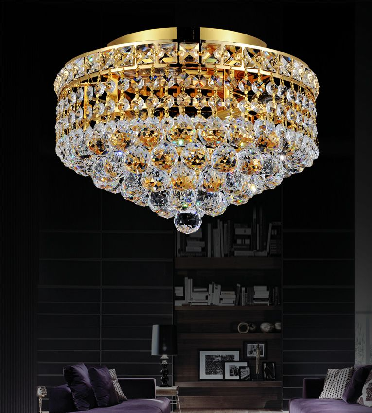 Luminous 12 inch 3 Light Flush Mount with Gold Finish