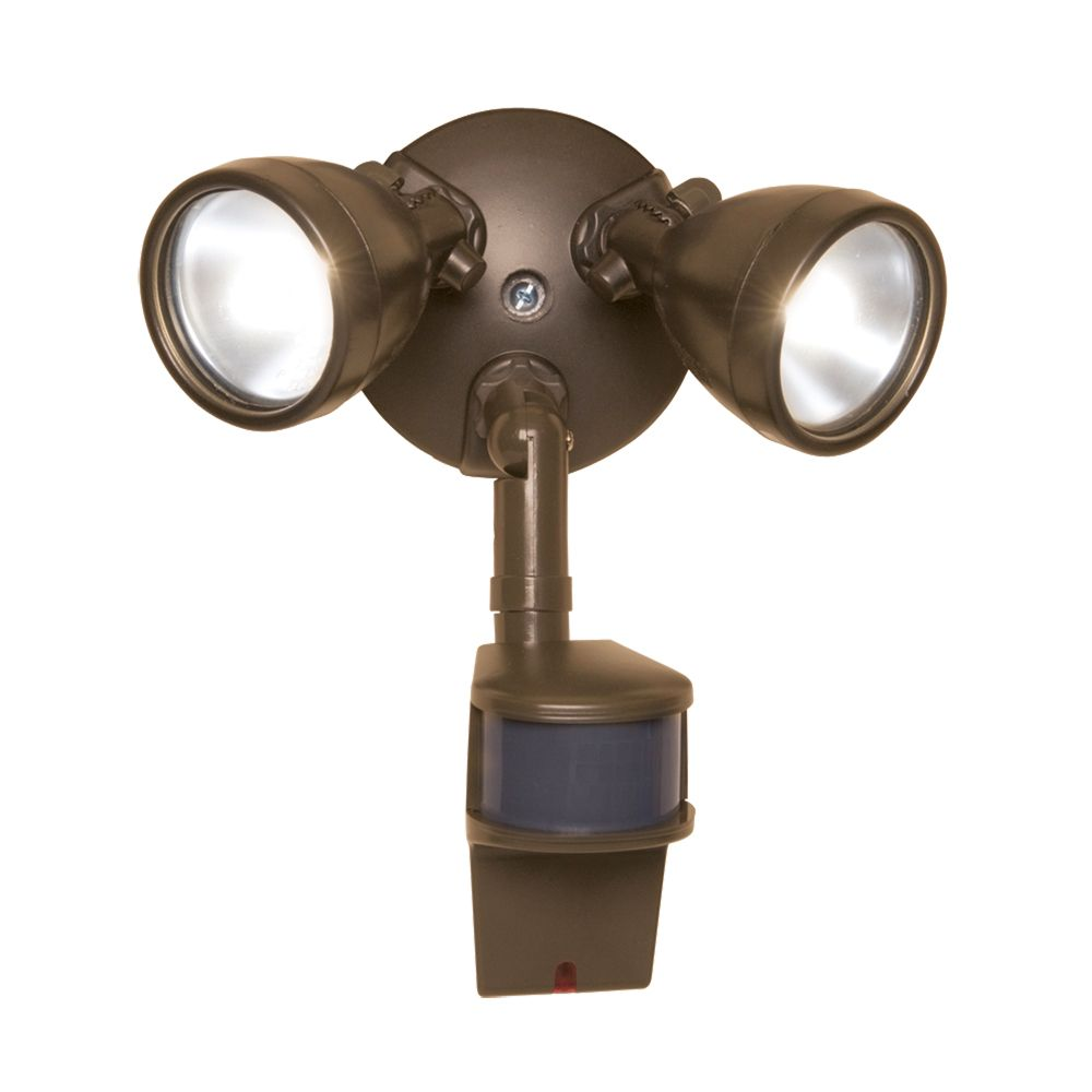 All-Pro 180 Motion Activated 200w Twin Bronze Bullet Style Halogen Security Floodlight