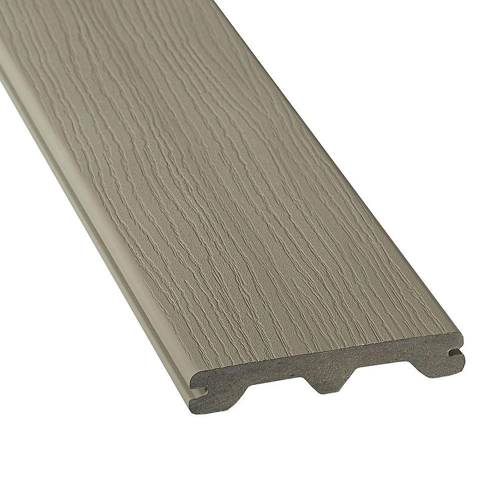 Veranda 12 Pi. - Veranda HP Composite Gray Rainurée