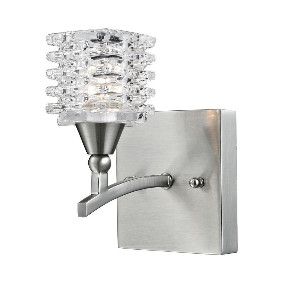 1- Light Wall Mount Satin Nickel Bath Bar