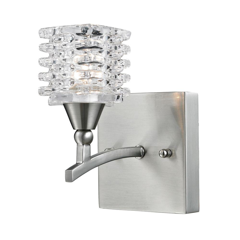 Titan Lighting 1- Light Wall Mount Satin Nickel Bath Bar