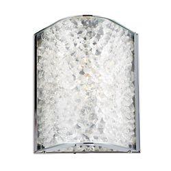 Titan Lighting Applique de salle de bain à 1ampoule au fini chrome poli