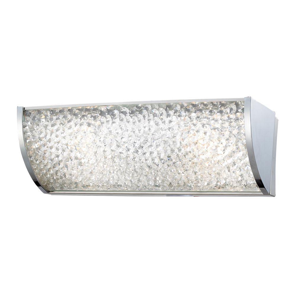 Applique de salle de bain à 2ampoules au fini chrome poli