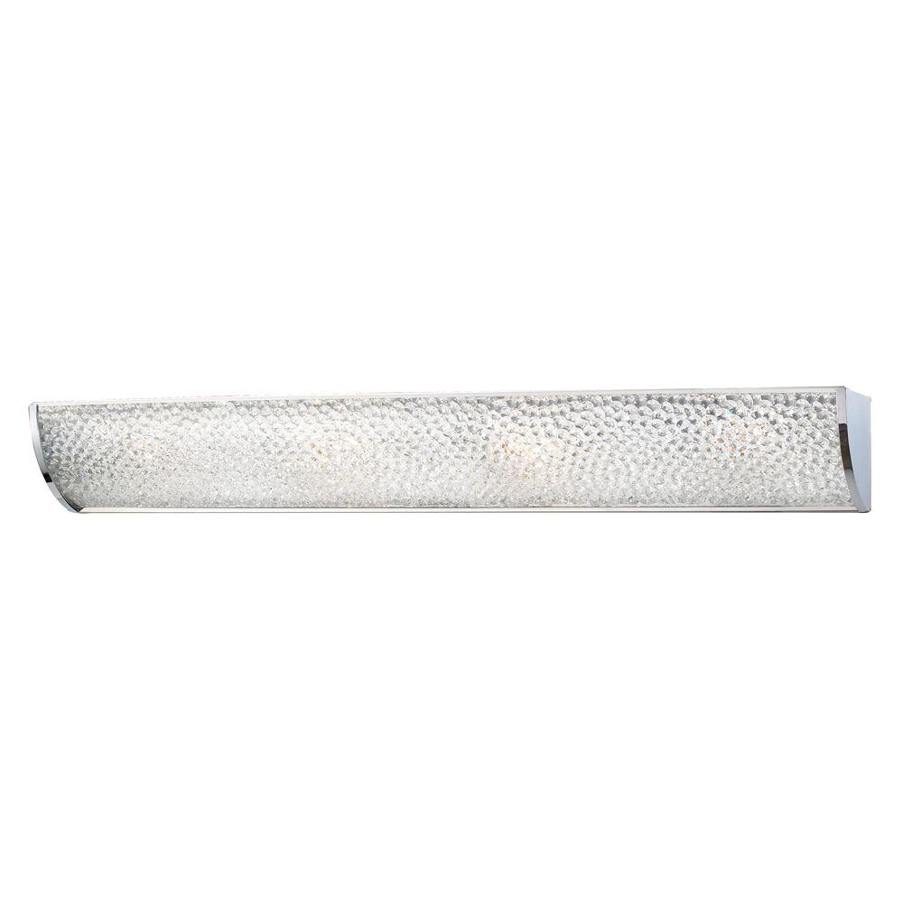 4- Light Wall Mount Polished Chrome Bath Bar