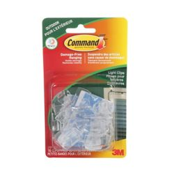 Command Outdoor Light Clips, 17017CLR-AWC, clear