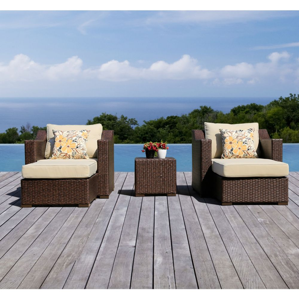 5-Piece Settina Outdoor Club Chair Set