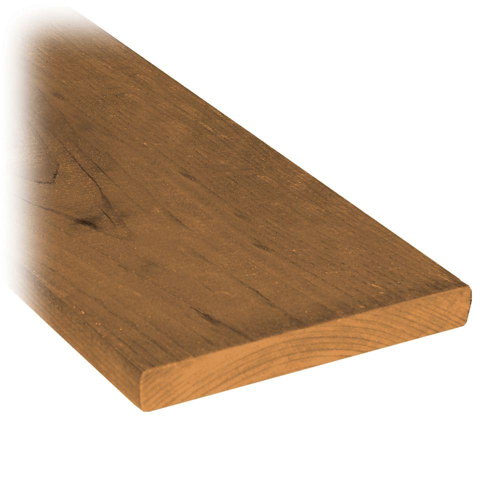 Planche de clôture en bois traité de 1x6x6