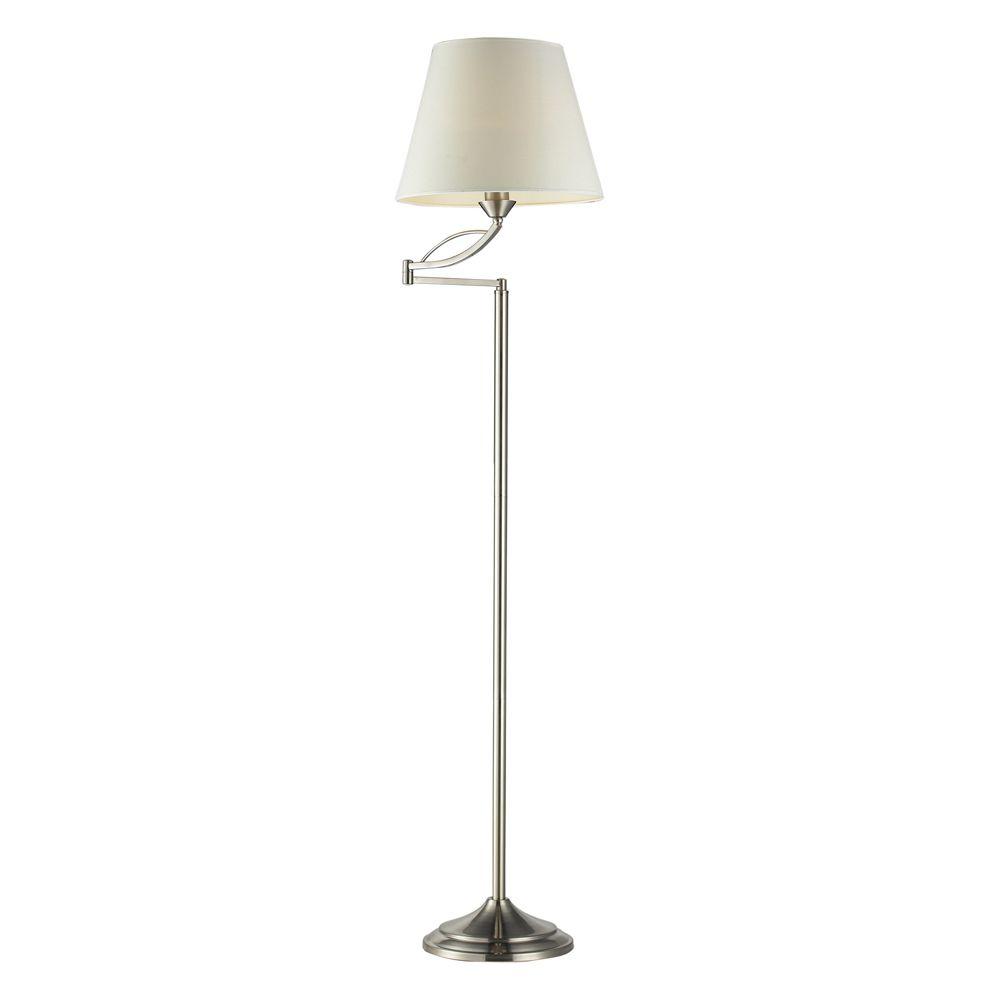 1- Light Lamp Satin Nickel Floor Lamp
