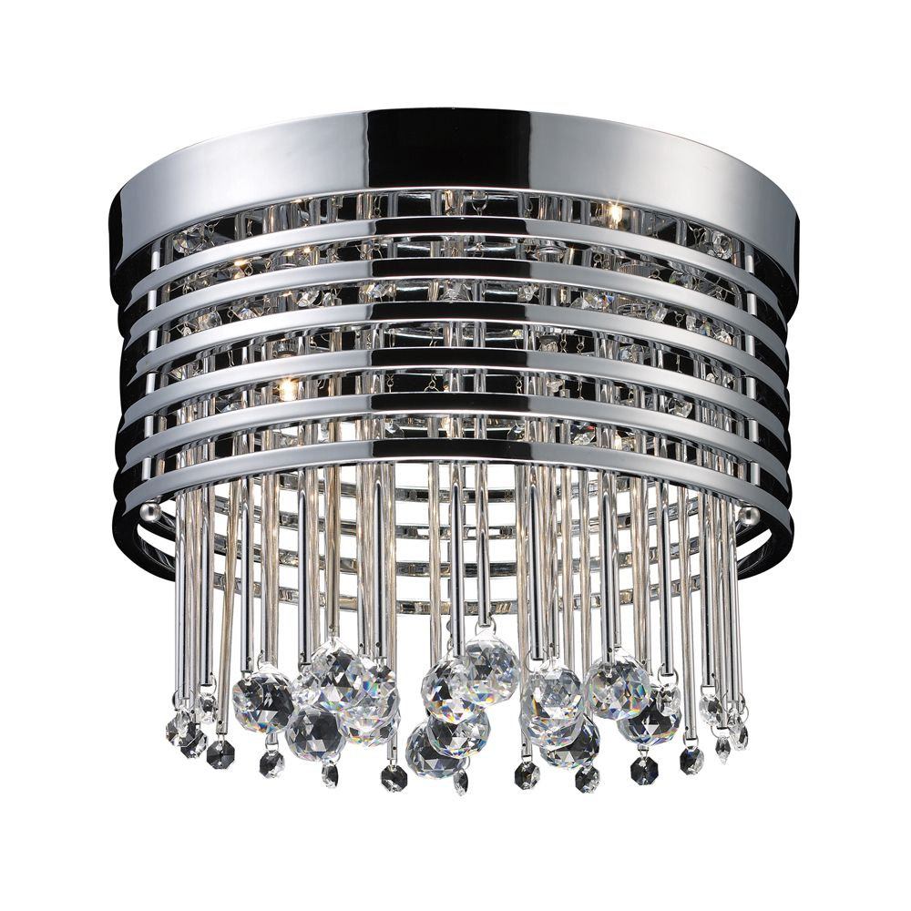 5-Light Ceiling Mount Polished Chrome Flush Mount