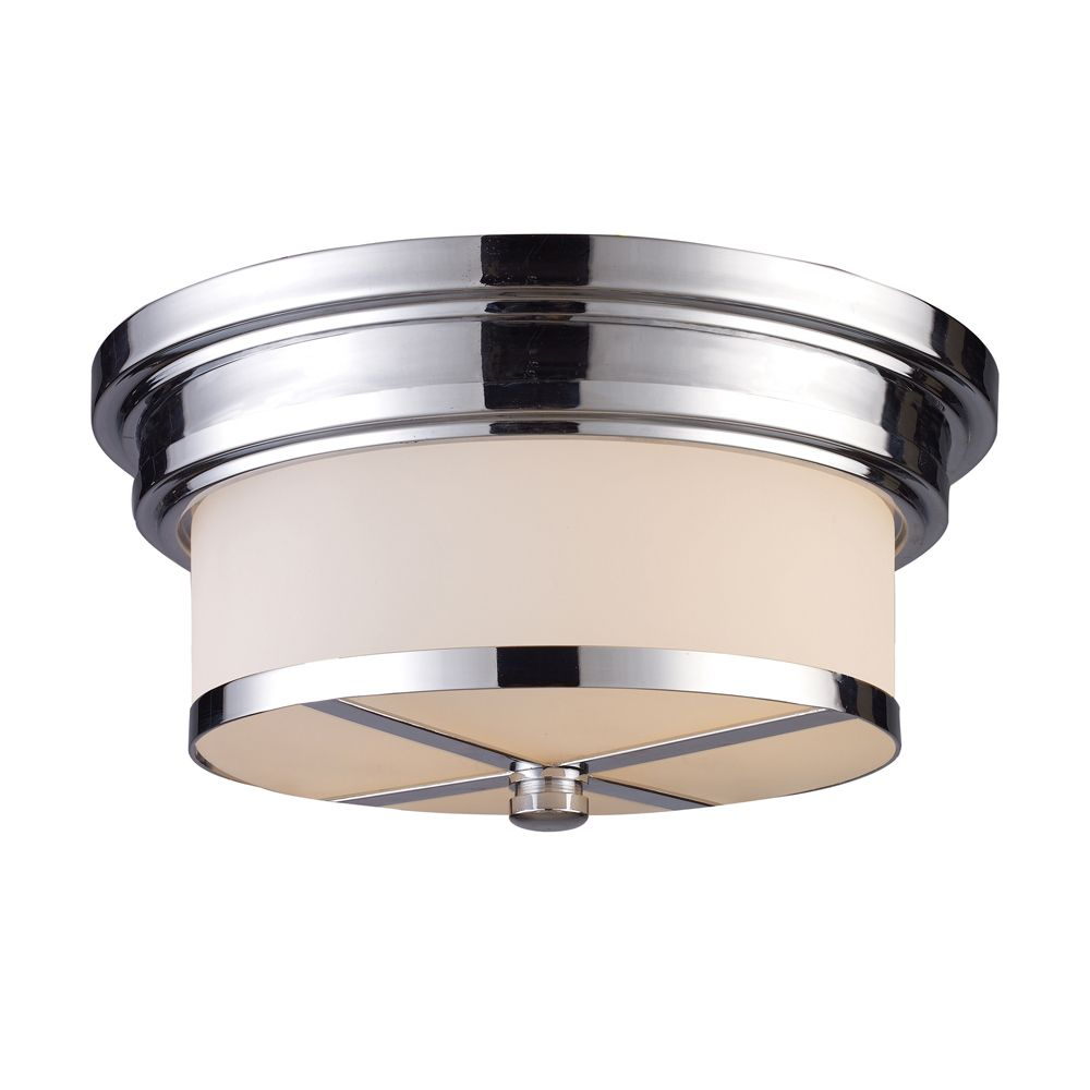 2-Light Ceiling Mount Polished Chrome Flush Mount TN-7129 in Canada