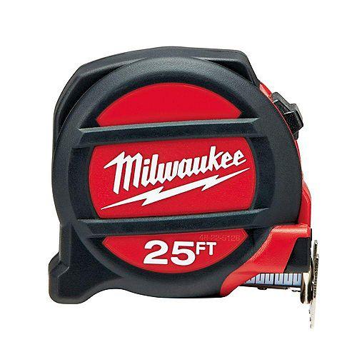 Milwaukee Tool 25 Foot Premium Non-Magnetic Tape Measure