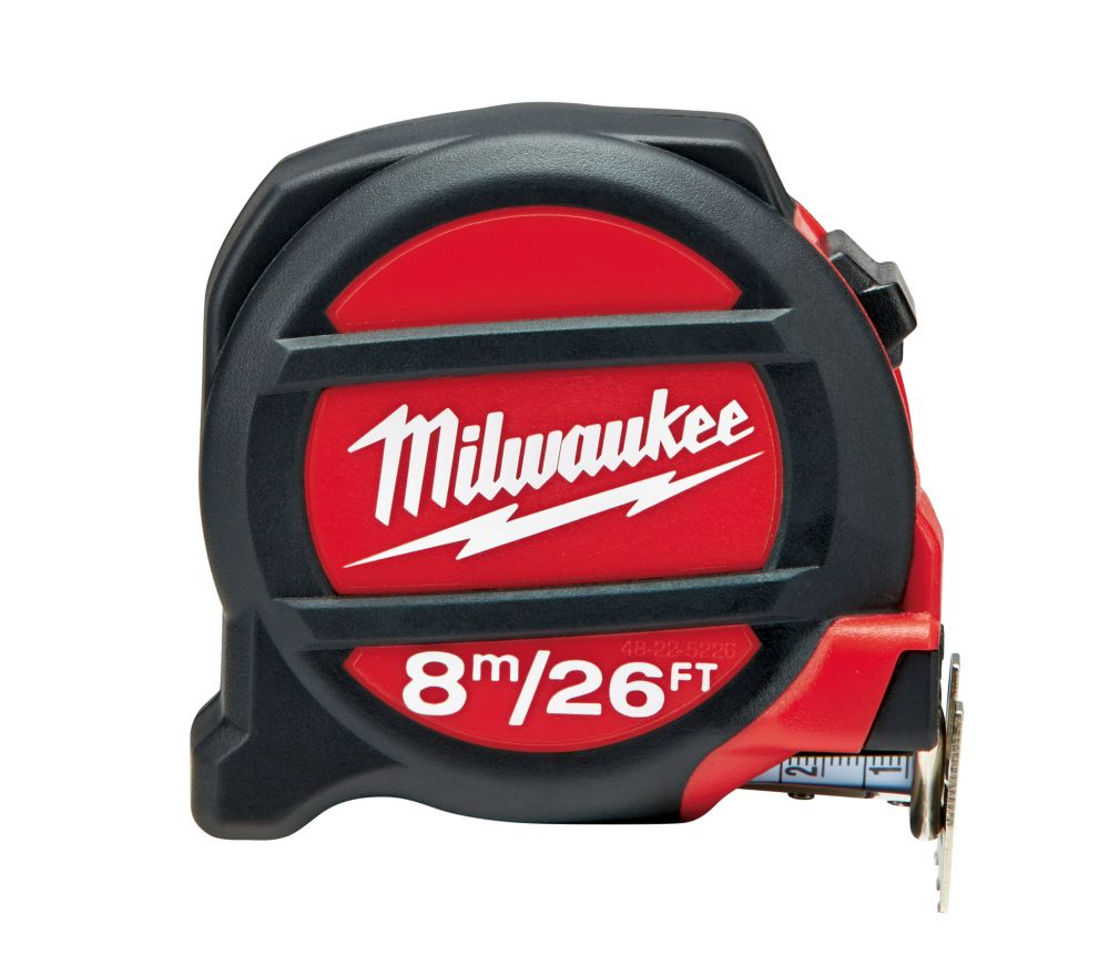 Milwaukee Tool 26 ft. /8 m Non-Magnetic Tape Measure