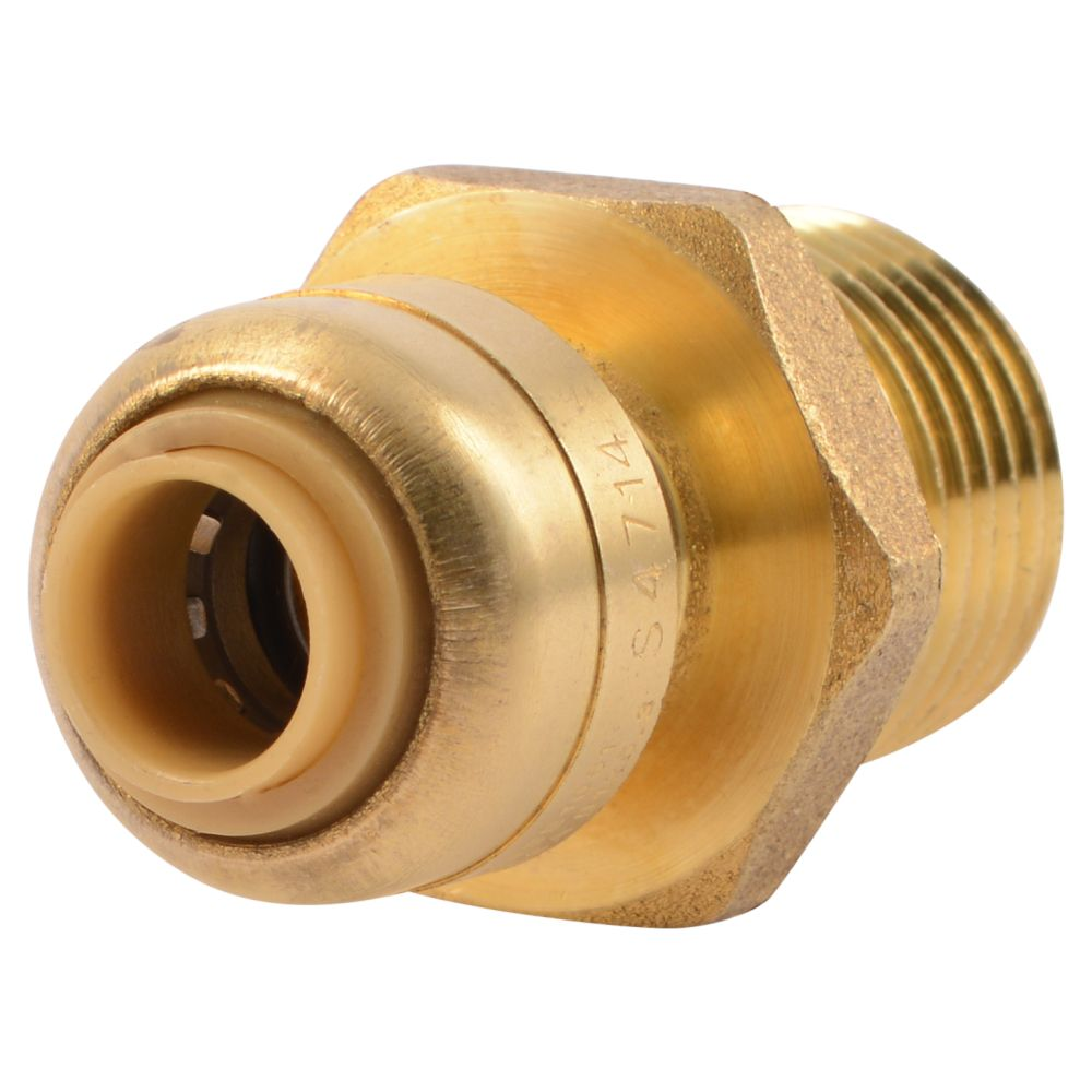 Sb Connector 1/4 Inch  X 1/2 Inch  Mnpt Rt Lf