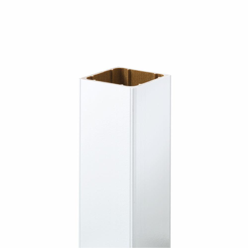 48 Po. - Manchon de poteau HP - Rampe - Blanc