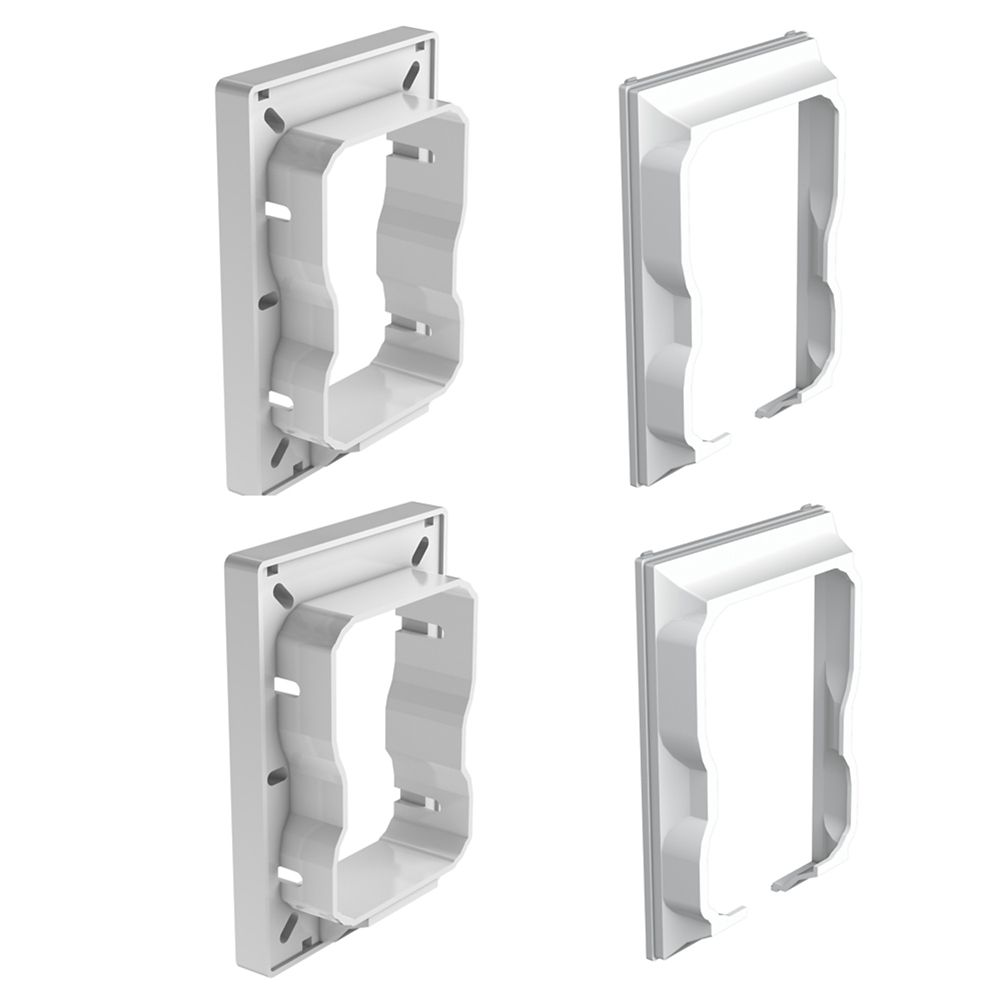 HP Architectural Horizontal Rail Connectors - 4 Pack - Railing - White