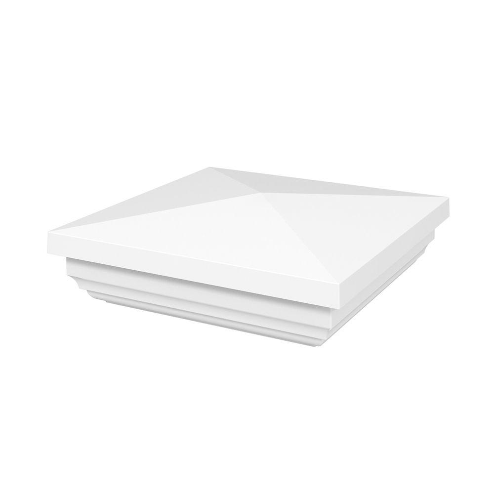 4x4 Post Cap - HP Traditional - Railing - White