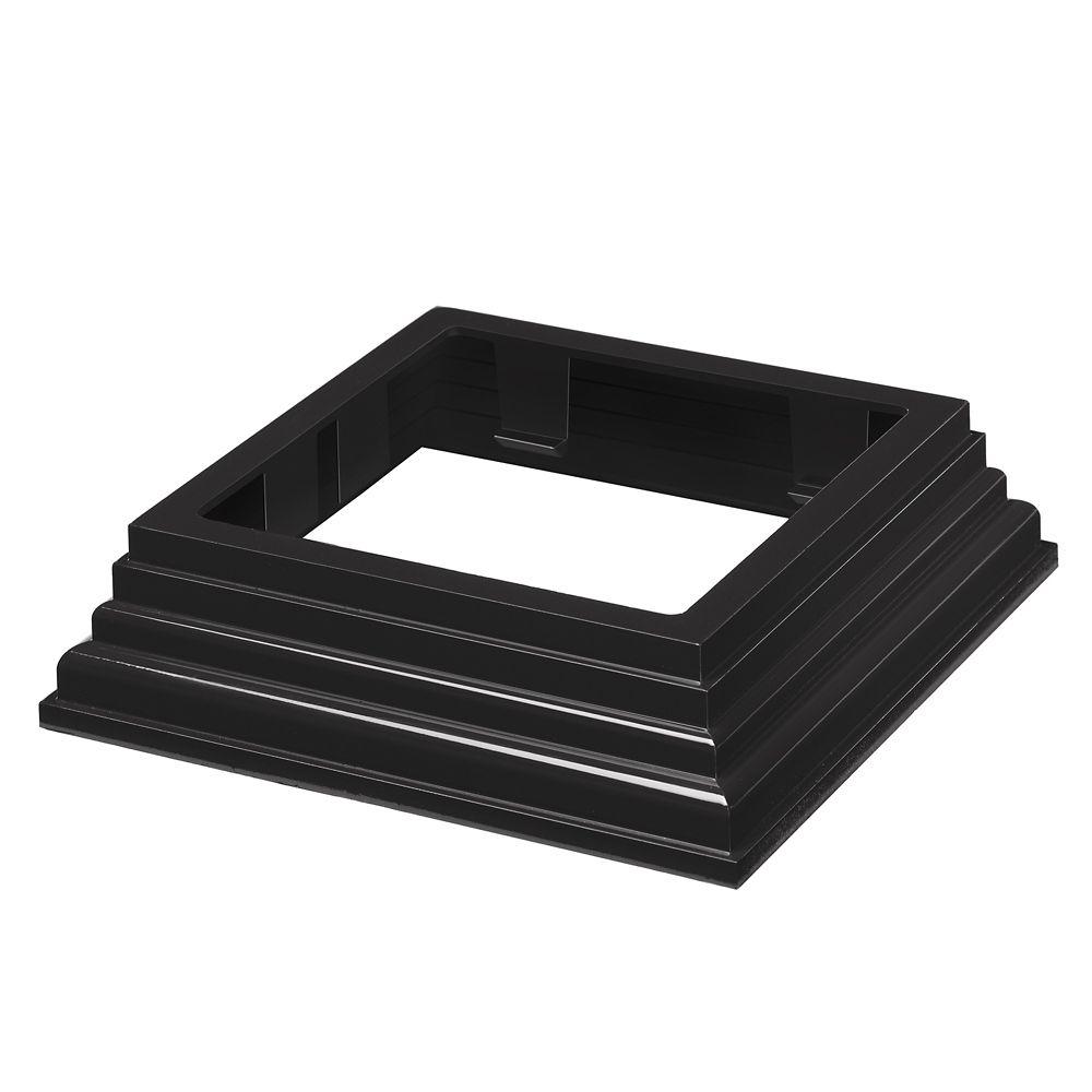 4x4 Post Base Trim - HP Traditional - Railing - Black