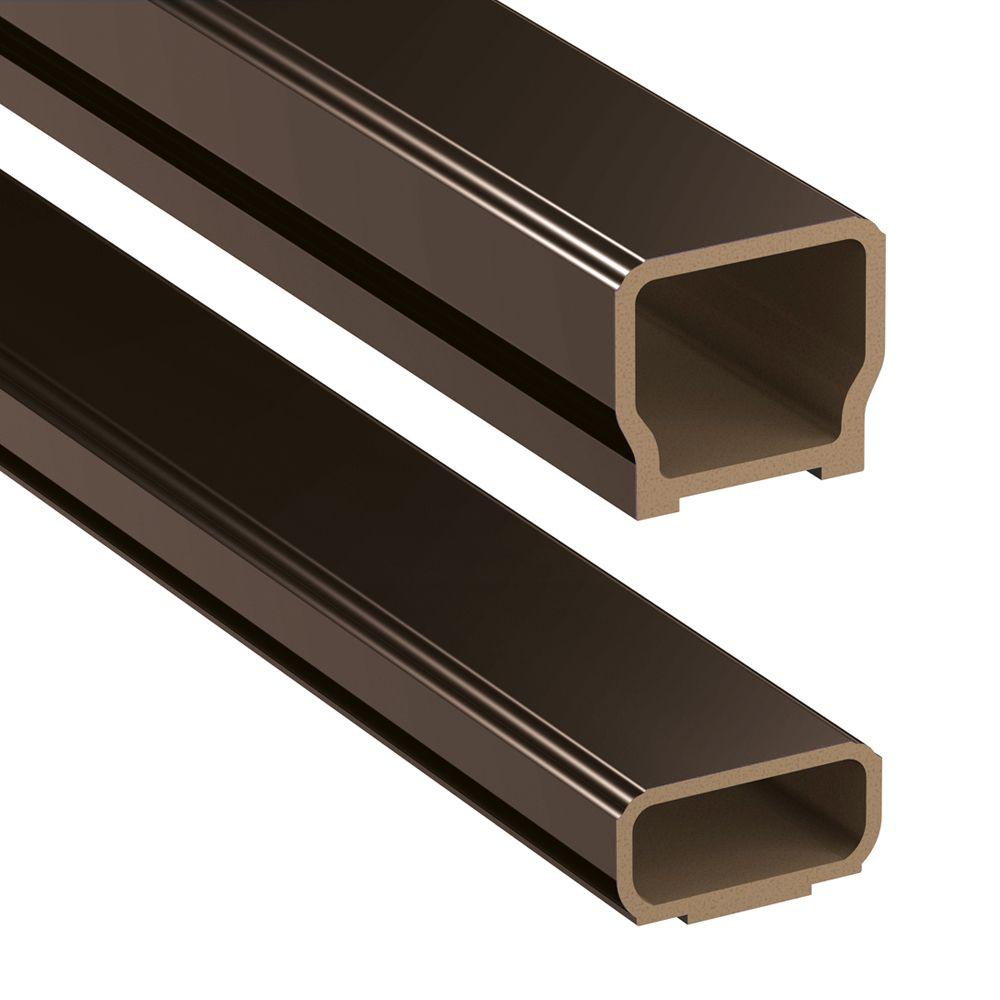 veranda 6 ft hp classic rail kit railing bronze the home depot canada. Black Bedroom Furniture Sets. Home Design Ideas