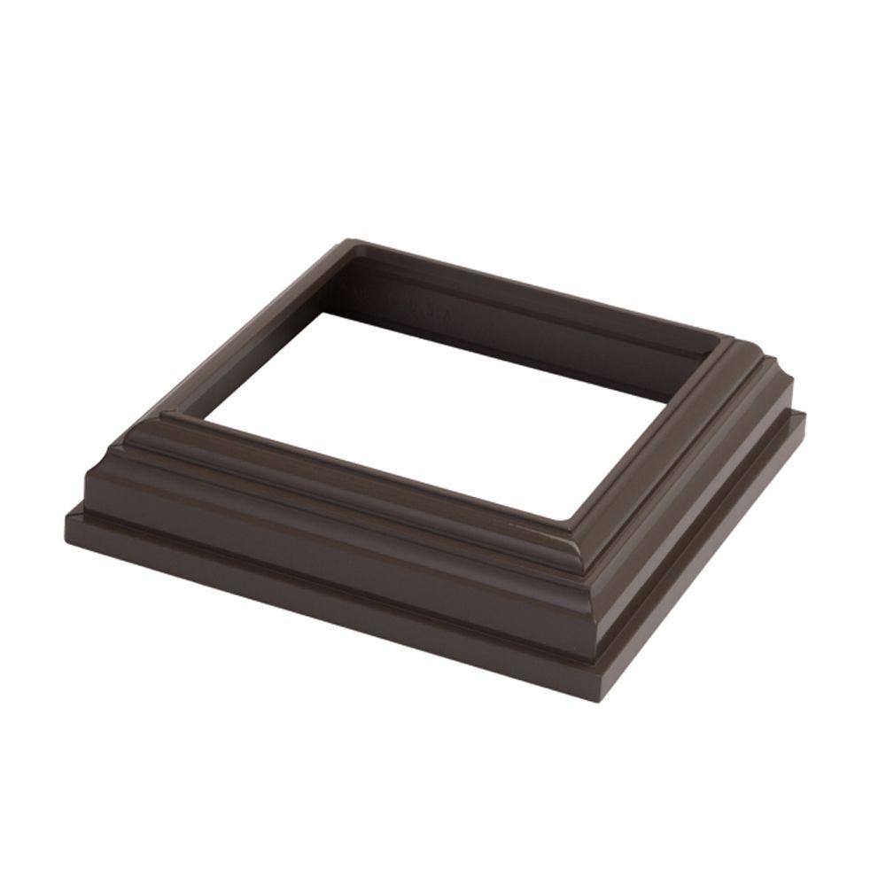 4x4 Jupe de poteau - HP Traditionnel - Rampe - Bronze