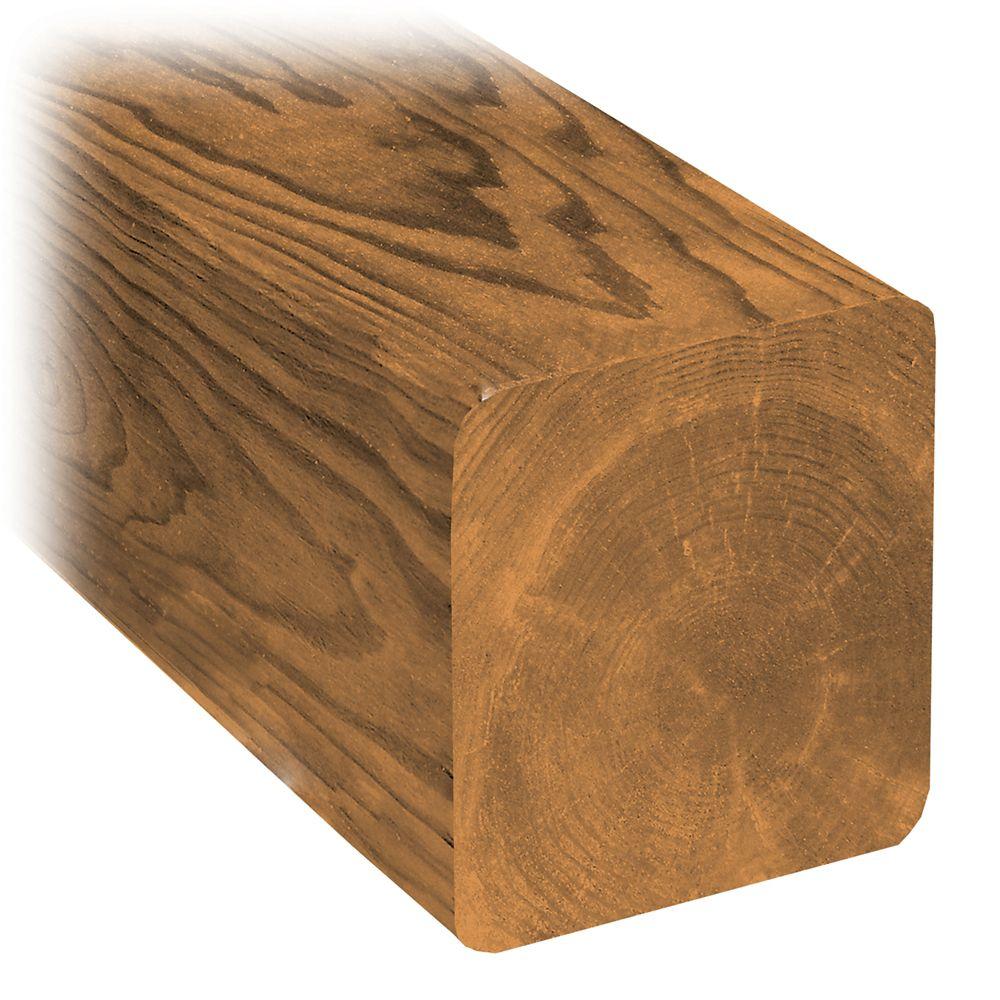 Bois traité chanfreiné de 6x6x8