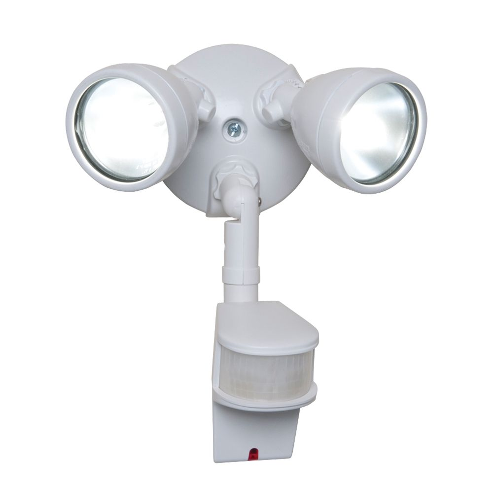 180° Motion Activated 200w Twin White Bullet Style Halogen Security Floodlight
