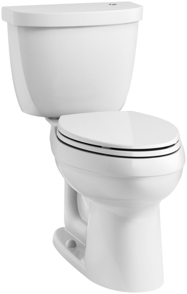 KOHLER Cimarron 4.8 LPF 2-Piece Elongated Bowl Toilet in White