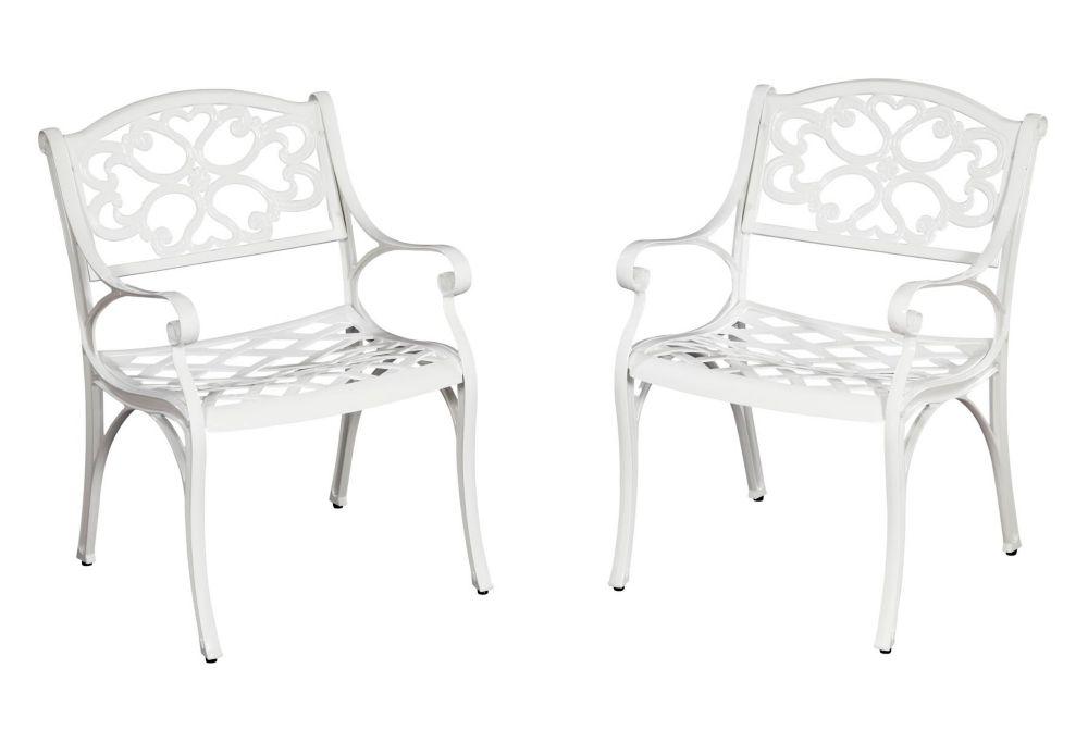 Paire de fauteuils Biscayne blancs