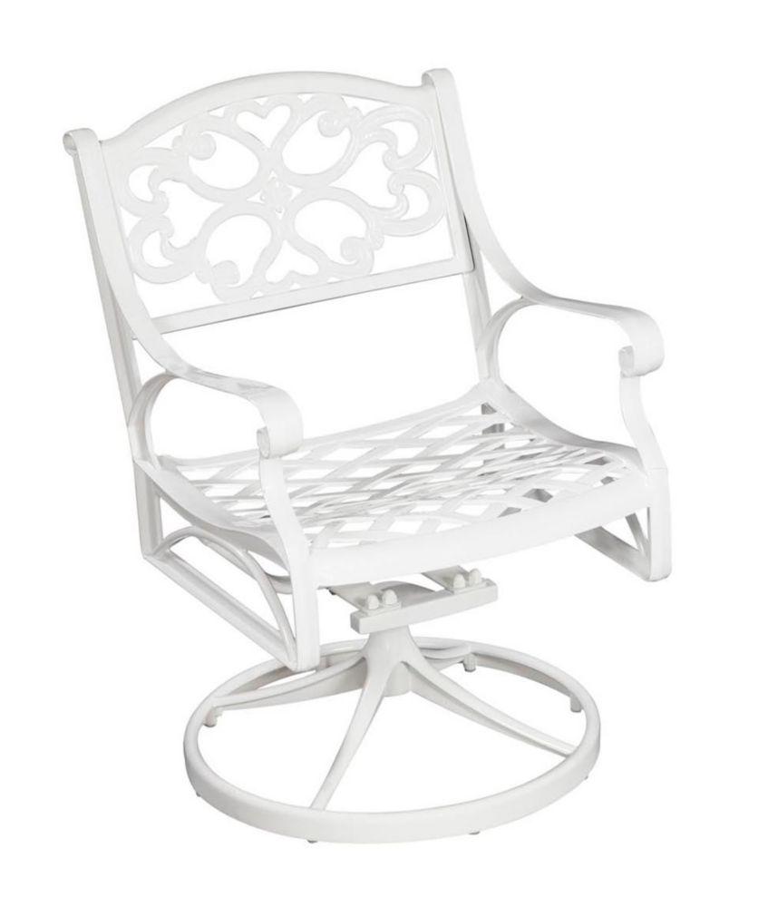 Swivel Chair White Finish