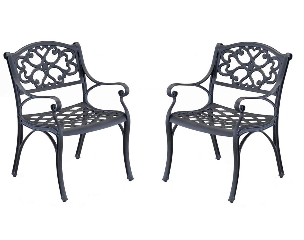 Arm Chair Pair Black Finish