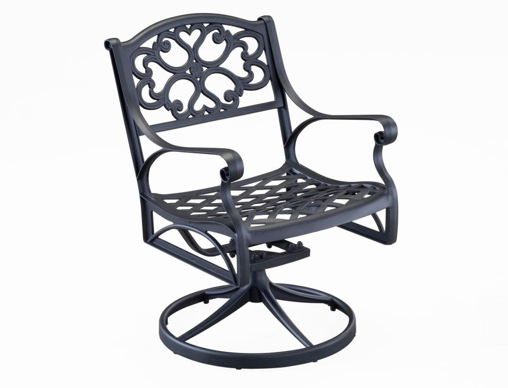 Swivel Chair Black Finish