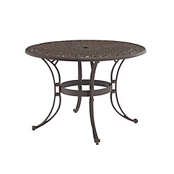 Home Styles 42-inch Round Patio Dining Table in Bronze Finish