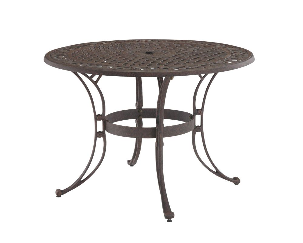 Home Styles 48-inch Round Patio Dining Table In Bronze