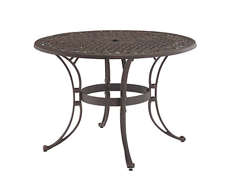 Home Styles 48 Inch Round Patio Dining Table In Bronze Finish The Depot Canada