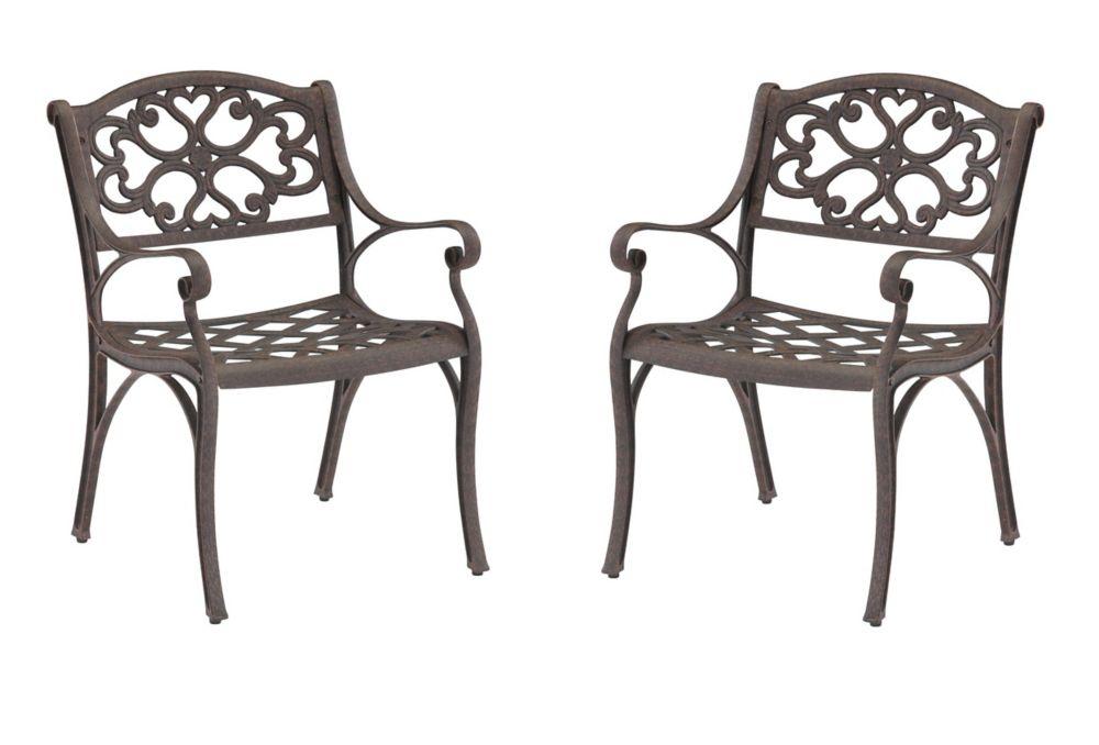 Paire de fauteuils Biscayne bronze